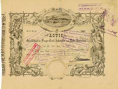 HWPH AG - Historische Wertpapiere - Gesellschaft der Prager Civil-Schwimm- und Badeanstalten Prag, 10.01.1883, Aktie über 52 Gulden 50 Kreuzer Österreichischer Währung, #19