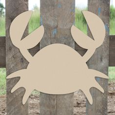Nautical Decor Mr Crabs Unfinished Cutout, Wooden Shape, Paintable Wooden MDF