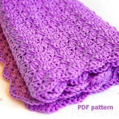 Crochet baby blanket pattern — shell blanket pattern