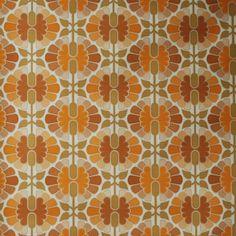 Seventies vintage wallpaper  50 cm. by FrauSvensson on Etsy, $9.00