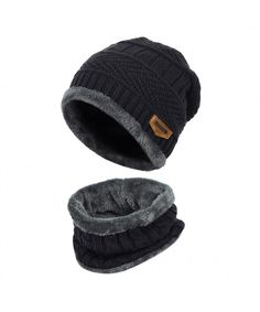Stretchy Cuff Beanie Hat Black Skull Caps Lukes Diner Winter Warm Knit Hats