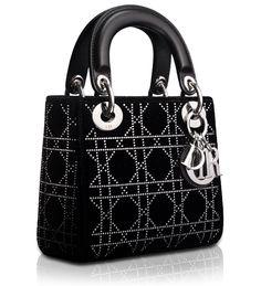LADY DIOR - Velvet and black leather  Lady Dior  bag Luxury Handbags, Dior 2f0b491b36