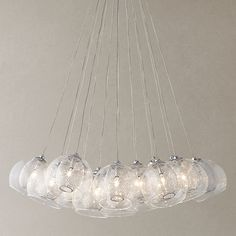 For over dining table? Buy John Lewis Knightley Mesh Parachute Cluster Ceiling Light Online at johnlewis.com