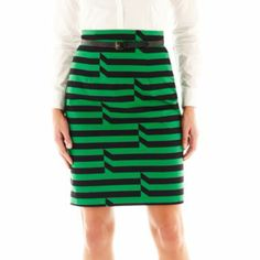 Jcpenny Worthington® High-Waist Sateen Pencil Skirt...Buying it :0