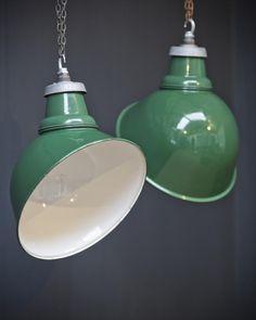 Pair Crossland Parabolic Pendants, Antique Lighting, Drew Pritchard
