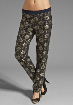 SAM Glen Pant in Metallic Lace at Revolve Clothing - Free Shipping!