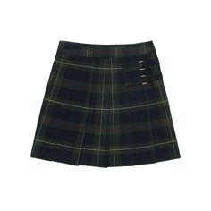 Girls 4-20 & Plus Size French Toast School Uniform Pleated Plaid Skort, Size: 12 Plus, Green
