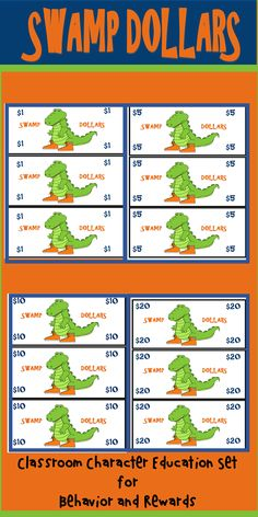 Florida Gators, Teachers, and Alligator Lovers, take control of your classroom by using a preventive measure with this character education behavior and rewards set. Classroom Money, Sports Theme Classroom, Classroom Rewards, 4th Grade Classroom, Special Education Teacher, Teacher Resources, Classroom Resources, Classroom Ideas, Swamp Theme