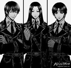 Hisoka, Illumi Zoldyk, and Chrollo Lucilfer Hunter x Hunter