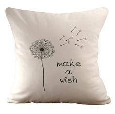 Make a wish  Cushion Cover  18x18 by sarahsmiledesign on Etsy, $39.00