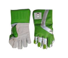 AM Wicket Keeping Green White Cricket Gloves