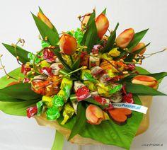 Bukiet z cukierków - na urodziny lub inną okazję