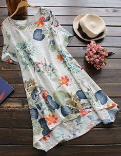 vestido florido curto - verão