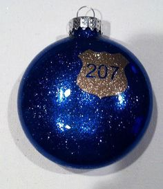 Police Badge Ornament by HooahHoneyHomemade on Etsy, $5.00