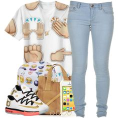 ' Emoji Errthang ', created by msyorkieluver on Polyvore