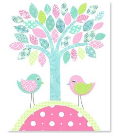 https://www.etsy.com/es/listing/176830832/tree-and-bird-nursery-art-aqua-and-pink?ref=related-3