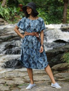 A personal favorite from my Etsy shop https://www.etsy.com/listing/526674555/shibori-tie-dye-dress-indigo-shibori