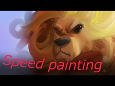 The #Lion #speedpaint by coolnessgod - YouTube #art
