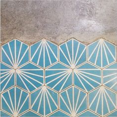 Beautiful clamshell tile in blue sunrise