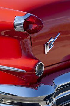 Vintage Cars 1956 Oldsmobile 88 - 1956 Oldsmobile 88 Taillight Emblem by Jill Reger Retro Cars, Vintage Cars, Antique Cars, Oldsmobile 88, Hood Ornaments, Us Cars, Sale Poster, General Motors, Tail Light
