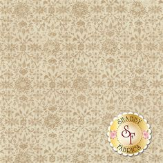 """Evergreen 30405-11 Marshmallow by BasicGrey for Moda Fabrics: Evergreen is a collection by BasicGrey for Moda Fabrics. This fabric features a tonal snowflake and floral design on a cream background. Width: 43""""/44""""Material: 100% CottonSwatch Size: 6"""" x 6"""""""