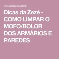 Dicas da Zezé - COMO LIMPAR O MOFO/BOLOR DOS ARMÁRIOS E PAREDES