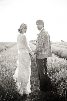 Mayfield Lavender Fields Bridal Inspiration shoot, UK | Ruffled