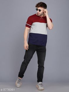 Tshirts Stylish Striped Men Round Neck Multicolor T-shirt Fabric: Cotton Pattern: Solid Multipack: 1 Sizes: S (Chest Size: 38 in Length Size: 26 in)  XL (Chest Size: 44 in Length Size: 29 in)  L (Chest Size: 42 in Length Size: 28 in)  M (Chest Size: 40 in Length Size: 27 in) Country of Origin: India Sizes Available: S, M, L, XL   Catalog Rating: ★4.1 (446)  Catalog Name: Comfy Partywear Men Tshirts CatalogID_869345 C70-SC1205 Code: 372-5776061-696
