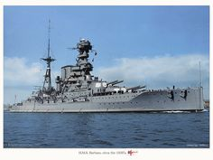 A fine colourised photo of HMS Barham between the wars. | Flickr - Photo Sharing!