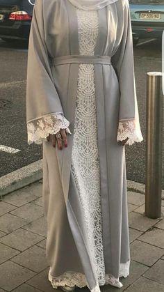 Pin by Mren Zoe on Abaya & Dress Niqab Fashion, Modern Hijab Fashion, Islamic Fashion, Muslim Fashion, Fashion Outfits, Hijab Style Dress, Abaya Style, Estilo Abaya, Mode Abaya