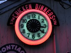 1950's Cleveland 26 inch Pinwheel Spinner Neon Clock sold $1225