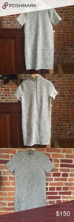Billy Reid knit shift dress xs Billy Reid shift dress with mock neck, off white/creme with texture, size xs (2) Billy Reid Dresses Mini
