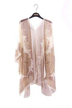 Brown Mandala Boho Kimono etnisch Kimono Kimono vest Gypsy