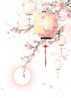 art - Antique Lanterns Painted Peach, Peach Clipart, Pink Peach, Peach PNG Transparent Image a Antique Lanterns, Art Asiatique, Art Japonais, Decoupage Vintage, China Art, China China, Decorating With Pictures, Japan Art, Cute Wallpapers