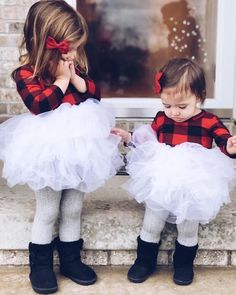 US Toddler Baby Girl Christmas Dress Tulle Plaid Tutu Party Pageant Dress Xmas White Christmas Outfit, Toddler Girl Christmas Outfits, Girls Christmas Dresses, Little Girl Outfits, Plaid Christmas, Christmas Photos, Christmas Gifts, Christmas Bells, Christmas Baby