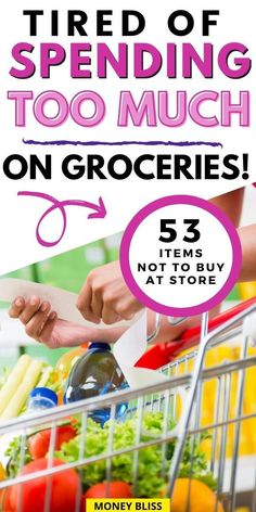 Learn how to grocery shop on a budget. Save money by not buying these items. These grocery money saving tips will save you thousands. These frugal living tips work for one, for two, or for family. Your family will improve your budget and live below your means with these frugal living tips. You will save money on groceries! Save Money On Groceries, Ways To Save Money, Money Saving Tips, Save Yourself, Improve Yourself, Living Below Your Means, Frugal Living Tips, Budget Meals, Grocery Store