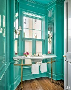 These rooms demonstrate the calming effect of turquoise, teal, and aquamarine   archdigest.com