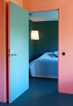 COLOR BLOCKING BEDROOM