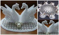 Hoje queremos falar sobre este belo cisnes crochet que são apresentados nas fotos ...