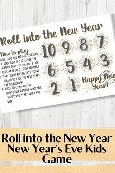 Kids New Years Eve, New Years Eve Games, New Years With Kids, Nye Games, New Year's Games, Countdown For Kids, New Year's Eve Countdown, New Year's Eve Celebrations, New Year Celebration