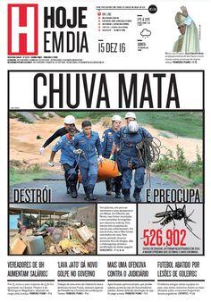 Capa do dia 15/12/2016 #HojeEmDia #Jornal #Notícias #News #Newspaper