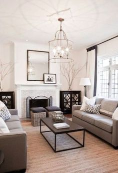 living room decorating ideas with taupe and gray furnishings to achieve balance or symmetry in the furniture layout