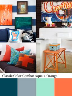 Aqua color palette - aqua color schemes home decor цвета для Aqua Color Schemes, Aqua Color Palette, Color Combinations, Color Palate, Colorful Playroom, My Living Room, New Room, House Colors, Decoration