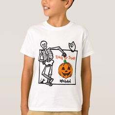 Halloween Personalized Boys Autism T-shirt XS S M