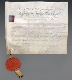 Brevet de chevalier de Dufriche-Valazé