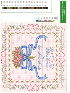 Cross Stitch Cards, Cross Stitch Alphabet, Cross Stitch Baby, Cross Stitching, Wedding Cross Stitch Patterns, Types Of Embroidery, Stitch 2, Plastic Canvas Patterns, Love And Marriage