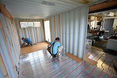 Shipping Container Homes Radiant floor heat/cooling!! Smart!