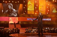 Jared Leto onstage on the 56th Annual GRAMMY Awards on Jan. 26 in Los Angeles