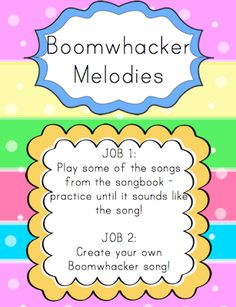 Elementary Music Resources---Music Centers - especially like the boomwhacker ideas! Kindergarten Music, Preschool Music, Music Activities, General Music Classroom, Music Worksheets, Primary Music, Music And Movement, Piano Teaching, Elementary Music