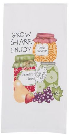 "Canning Jars 100% Cotton Flour Sack Dish Towel / Tea Towel, 30"" x 20"""